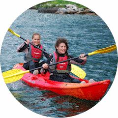 Kayak per due sul'spiagga