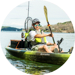 Kayak pesca per il pescatore